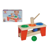 Simba 100027244 Eichhorn Heroes Wooden Hammering Bench