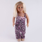 Aimee Zebra Leggings & Tank Top 2 Piece Outfit for 46cm American Girl Doll Clothes