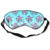 Sleeping Eye Mask Tie Dye Turtle Natural Silk Eye Mask Cover With Adjustable Strap