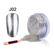 Belen Chameleon Colour-Changing Metallic Mirror Chrome Powder Nail Glitter Effect Holo with Sponge Stick