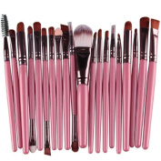 Willsa 20 pcs/set Makeup Brush tools Make-up Toiletry Kit Wool Brush Set