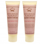 Nubian Patchouli and Buriti Hand Cream (Pack of 2) With Shea Butter and Rose Hips, 120ml Each