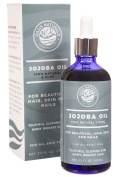 Oasis Naturals 100% Pure Organic Jojoba Oil for Natural Beauty, 100ml