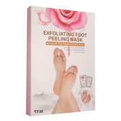 2 Pairs Rose Baby Foot Mask, LuckyFine Exfoliating Foot Mask Remove Calluses & Dead Skin Cells, Rebirth of Soft Baby Foot, Rose Scented, Peel second day, Completely within 4-7 days