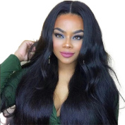 Oulaer 180% Density Lace Wigs Human Hair With Baby Hair Glueless Silky Straight 13x 7 Lace Front Human Hair Wigs Malaysian Hair Natural Colour 25cm Lace Front Wig
