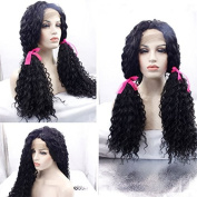 Meige wig #1b loose curl wigs synthetic lace front wigs heat resistant synthetic wigs 60cm - 60cm