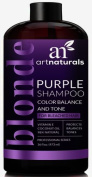 ArtNaturals Purple Shampoo for Blonde Hair – 470ml – Protects, Balances and Tones – Bleached, Colour Treated and Silver Hair