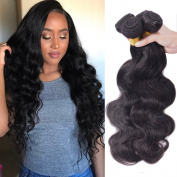 Brazilian Hair Weave 4 Bundles 10-70cm ,Brazilian Straight Human Hair Bundles Extension Silky Straight Natural Black Colour (100+/-5g)/pcs