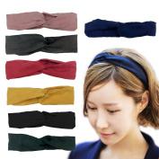 InnoLife, 7 Pack Women Styling Fashion Headbands Elastic Turban Bandana Head Wrap Twisted Knotted Hair Band