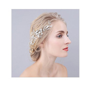 Crystal Handmade bridal hair combs Wedding Headpiece Leaf Hair Pin Hair Accessories for girl and women