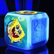 SpongeBob SquarePant Patrick Star Digital Alarm Desktop Clock with 7 Changing LED Clock Colourful Toys for Kids