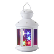 OxyLED BN07 Portable LED Lantern, Decorative Night Light Lamp With Warm/RGB Mode Twinkle 3D Stars