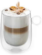 Insulated Double Wall Glass - Enjoy a Cup of Coffee, Tea, Cappuccino or Latte Longer at the Perfect Temperature, with Your Favourite Glass Coffee Mugs by ARMASHU