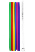 Tegion 30cm Extra Long Reusable Silicone Straight Straws for Tall Tumblers 1180ml Hydro Flask, 32 blender bottle