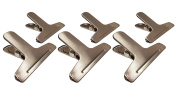 6 Medium Magnetic Clips Stainless Steel Bag Clips for Air Tight Seal Grip on Coffee Bags, Kitchen Food Storage