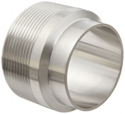 Dixon B19WB-G200 Stainless Steel 304 Sanitary Fitting, Unpolished Weld Adapter, 5.1cm Tube OD x 5.1cm NPT Male