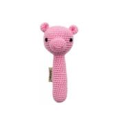 Cheengoo Organic Crocheted Pig Rattle
