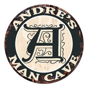 ANDRE'S MAN CAVE Initial Letter A Chic Sign Rustic Shabby Vintage style Retro Kitchen Bar Pub Coffee Shop man cave Decor Gift Ideas
