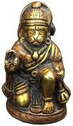 Vrinda Brass Handicraft Statue Hanuman Cherry Colour 6.4cm God Figure Sculpture Decorative Spiritual Religious