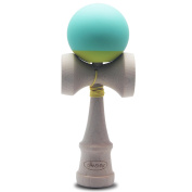 Canshow Kendama, Rubber paint Maple Wood Toy Ball, With Extra String Blue and Yellow, Suitable for kids and adult outdoor sports