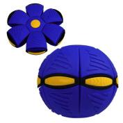 Leewa@ UFO Deformation Ball Soccer Magic Flying Football Flat Throw Ball Toy Games