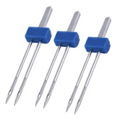Vi.yo Sewing Machine Double Needles Pins Twin Heavy Duty DIY Craft Accessories Durable Stainless Steel 3Pcs Pieces of Set