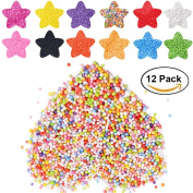 Foam Beads Balls for Slime - Syolee Polystyrene Styrofoam Balls Beads Colours - Perfect for Kids Homemade Slime Crafts Arts Fillers
