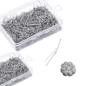Dreamtop 1900pcs Stainless Steel Head Pins Dressmaker Pins with Boxes and Mini Pincushion for Jewellery Making Sewing Craft, 26mm and 35mm