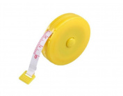 1PCS 1.5m 150cm Portable Soft Tape Measurement Sewing Tailor Ruler Push Button Retractable Tape Measure with Plasitc Cover for Clothing Measuring Children's Height