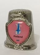 """Country """"Finland"""" Souvenir Collectible Thimble"""