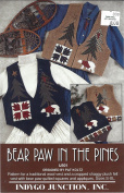 Indygo Junction, Inc. Pattern IJ501 - Bear Paw in the Pines Designed by Pat Koltz - Misses Vests - Quilted Squares and Appliques Sz S-XL