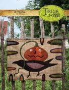 Prize Pick 215 Halloween Pumpkin Crow Threads that Bind Wool Applique Pattern
