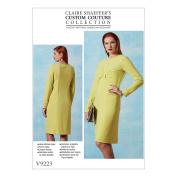 Vogue V9223 16-24 Sewing Pattern Ladies Gathered Bosom Slim Shift Dress