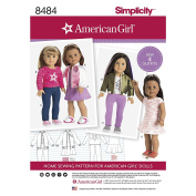 Simplicity Pattern 8484 American Girl 46cm Doll Clothes SEWING PATTERN