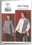 Vogue V9271 16-26 Sewing Pattern Ladies Loose Fitting Long Sleeve Shirt