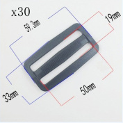 Welldoit 30 Pcs Adjustable Slide Buckle for Making Handbag, Backpack, Luggage Bag