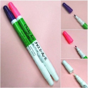Disappearing Vanishing Pens / Set Of Pink & Violet Pens With Eraser