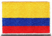 3.4cm x 4.8cm .Republic of Colombia Colombian National Flag logo patch Jacket T-shirt Sew Iron on Patch Badge Embroidery