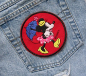 Classic Minnie Mouse PARASOL Minnie On the Move Iron On Sew On Patch Walt Disney