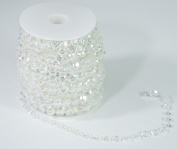 ALL in ONE 30m Acrylic Crystal Beads by the Roll DIY Craft Garland Centrepiece Wedding Party Events Decoration