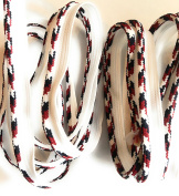 LIP CORDING Multi Colour White / Black / Marroon -Cord-edge -Piping Trim for Clothing Pillows, Lamps, Draperies 5 Yards Pi-129