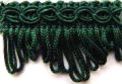 30mm Essential Trimmings Fan Edge Furnishing Braid Trimming Dark Green - per metre