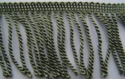 60mm Essential Trimmings Bullion Furnishing Fringe Trimming Green - per metre