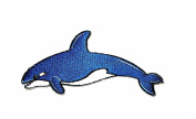 HHO Blue shark sea creature cartoon kids Patch Embroidered DIY Patches, Cute Applique Sew Iron on Kids Craft Patch for Bags Jackets Jeans Clothes