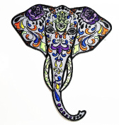 HHO Colourful elephant cartoon Patch Embroidered DIY Patches, Cute Applique Sew Iron on Kids Craft Patch for Bags Jackets Jeans Clothes