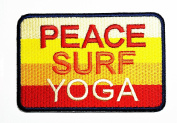 HHO PEACE SURF YOGA Embroidered Patch Embroidered DIY Patches, Cute Applique Sew Iron on Kids Craft Patch for Bags Jackets Jeans Clothes