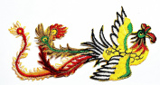 HHO Chinese chicken Dragon Tattoo Graphic Arts logo Patch Embroidered DIY Patches, Cute Applique Sew Iron on Kids Craft Patch for Bags Jackets Jeans Clothes