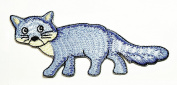 HHO Cute blue cat is walking cartoon Patch Embroidered DIY Patches, Cute Applique Sew Iron on Kids Craft Patch for Bags Jackets Jeans Clothes