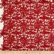 Sequin Lace Red Fabric By The Yard