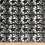 Sequin Lace Black Fabric By The Yard